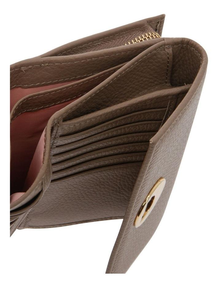Liya Tri-Fold Taupe Wallet image 4