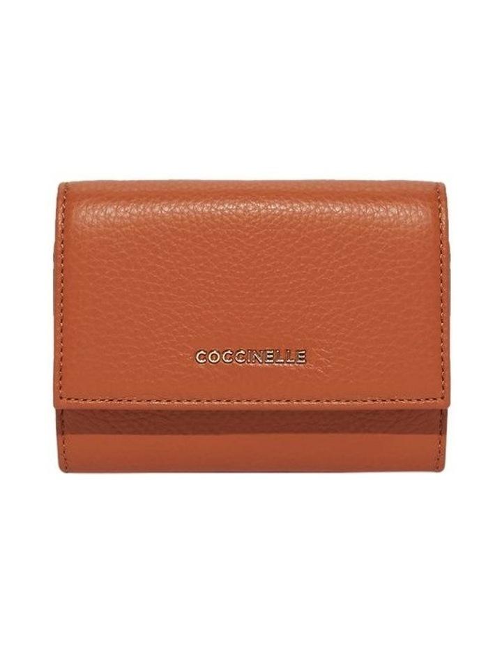 Metallic Soft Tri-Fold Wallet image 1