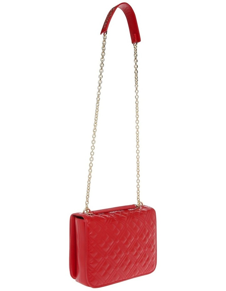 Quilt Red Flap-Over Crossbody Bag image 2