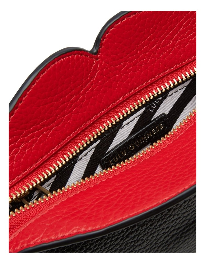 Black Peekaboo Lip Clover Clutch image 4