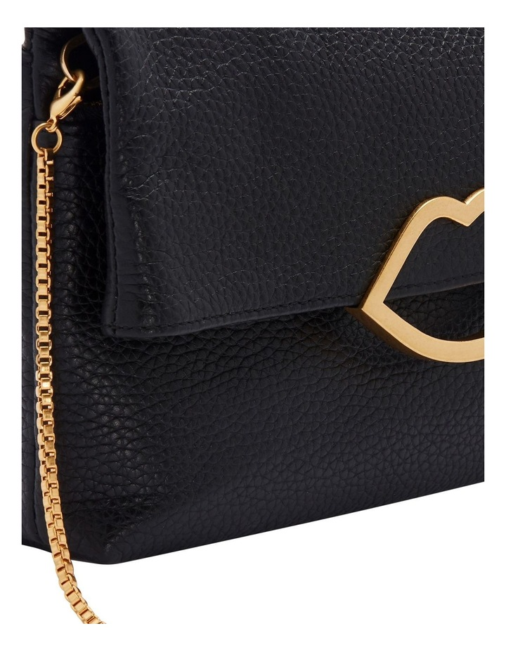 Black Cut Out Lip Issy Clutch image 4