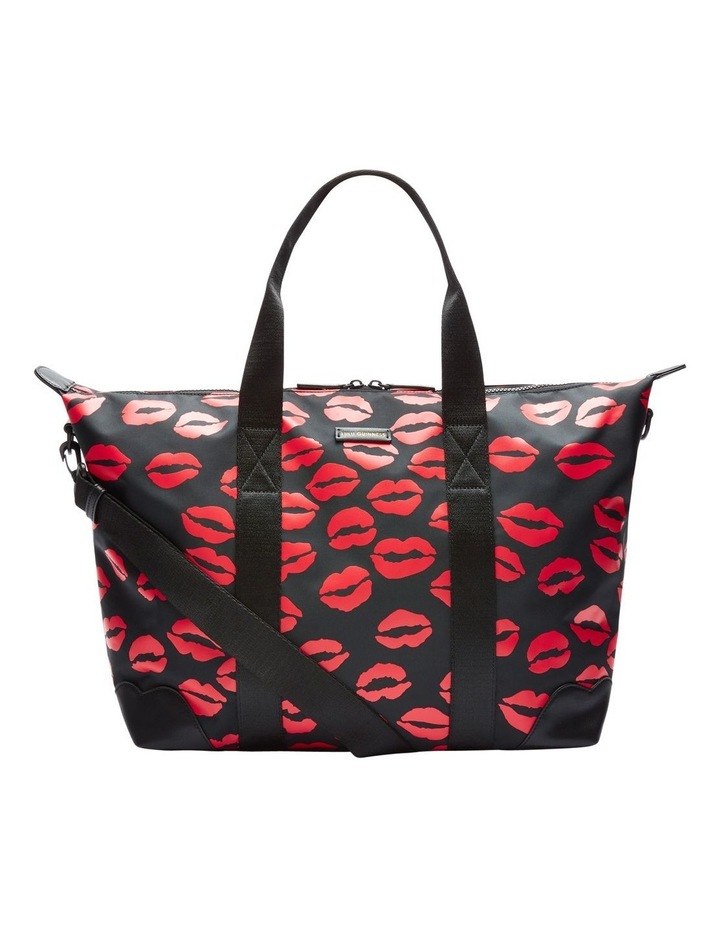Black/Red Lip Blot Fiona Overnight Bag image 1