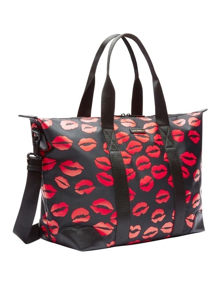 Black/Red Lip Blot Fiona Overnight Bag image 2