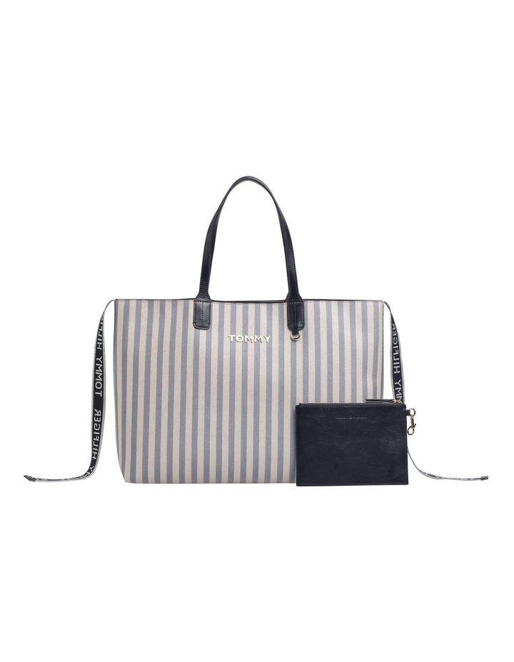 Tommy Icon Stripe Tote Bag image 1