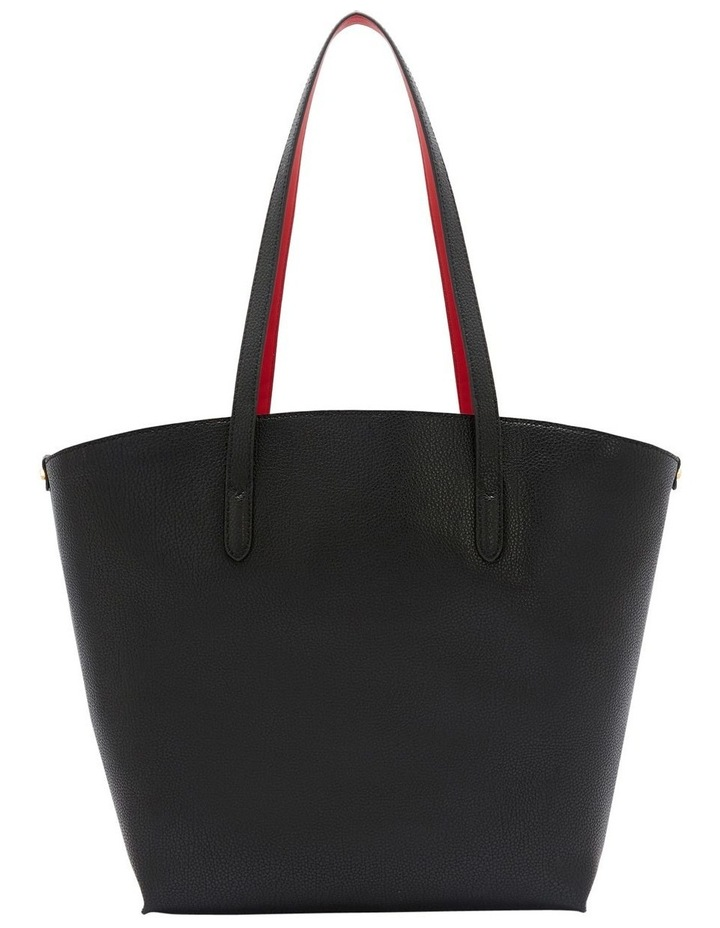 Black Leather Agnes Tote image 2