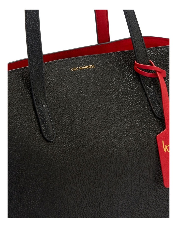 Black Leather Agnes Tote image 4