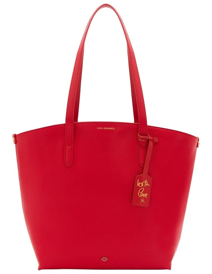 Classic Red Leather Agnes Tote image 1