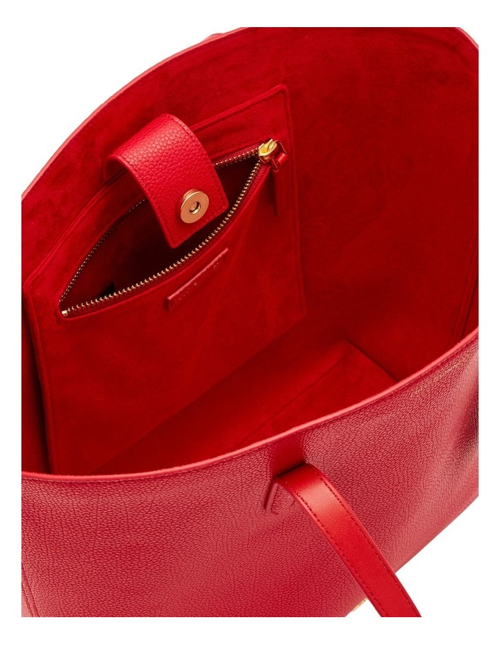 Classic Red Leather Agnes Tote image 3