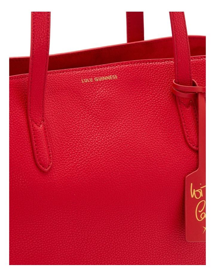 Classic Red Leather Agnes Tote image 4