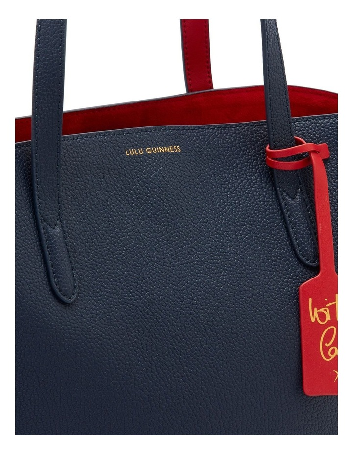 Navy Leather Agnes Tote image 4