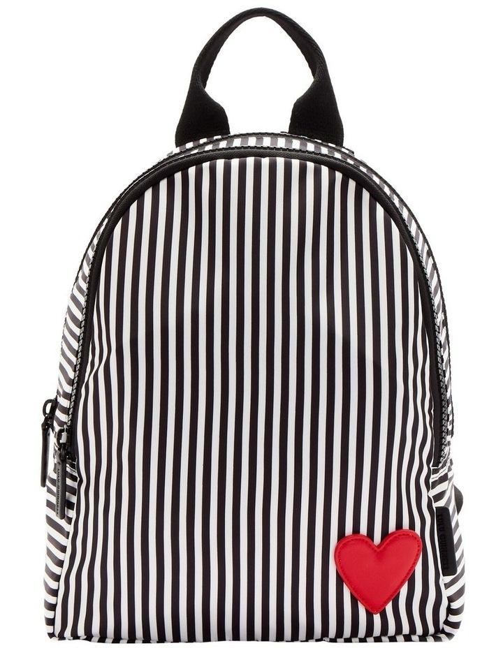 Black/Chalk/Red Heart & Stripes Sadie Backpack image 1