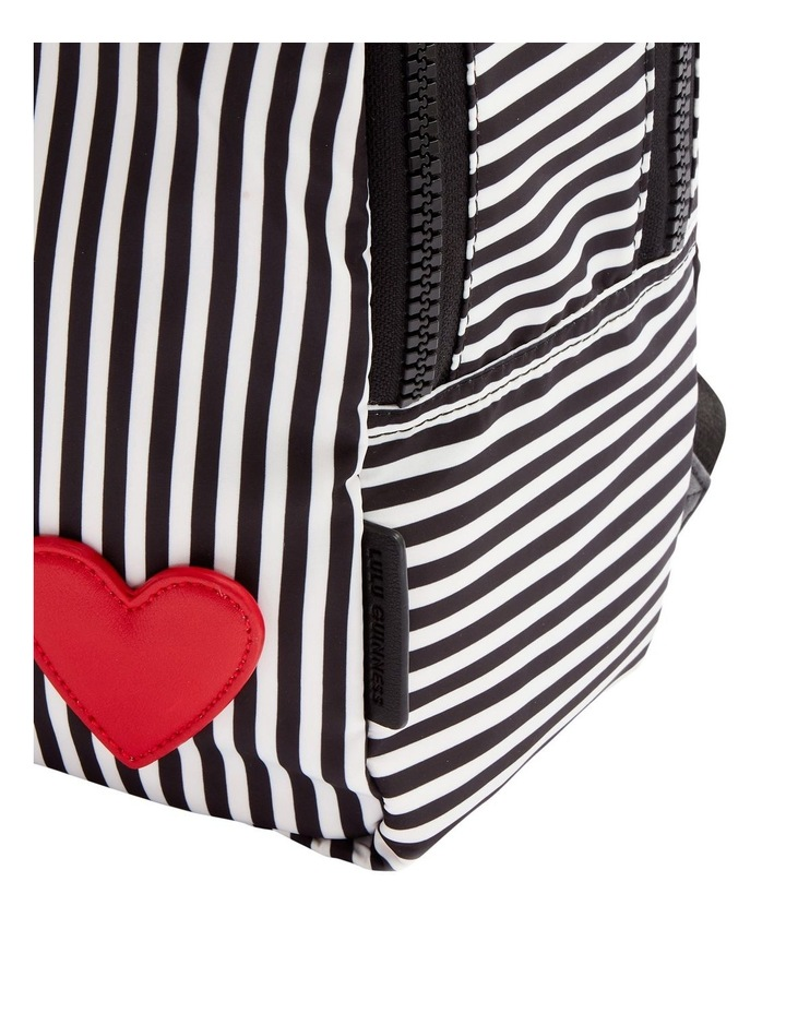 Black/Chalk/Red Heart & Stripes Sadie Backpack image 3