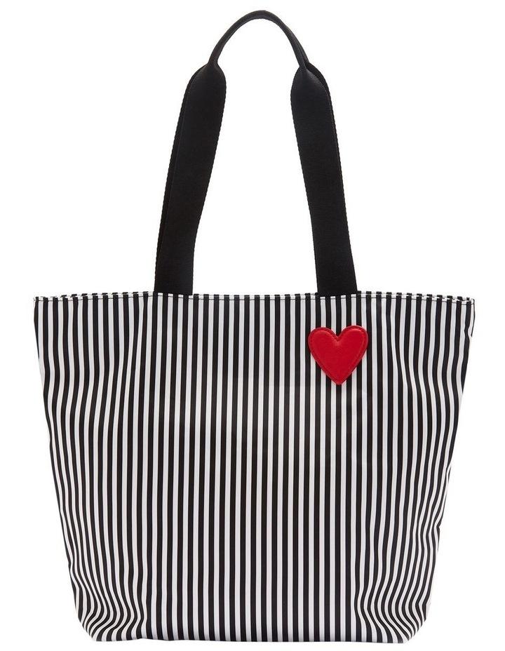 Black/Chalk/Red Heart & Stripes Bea Tote image 1