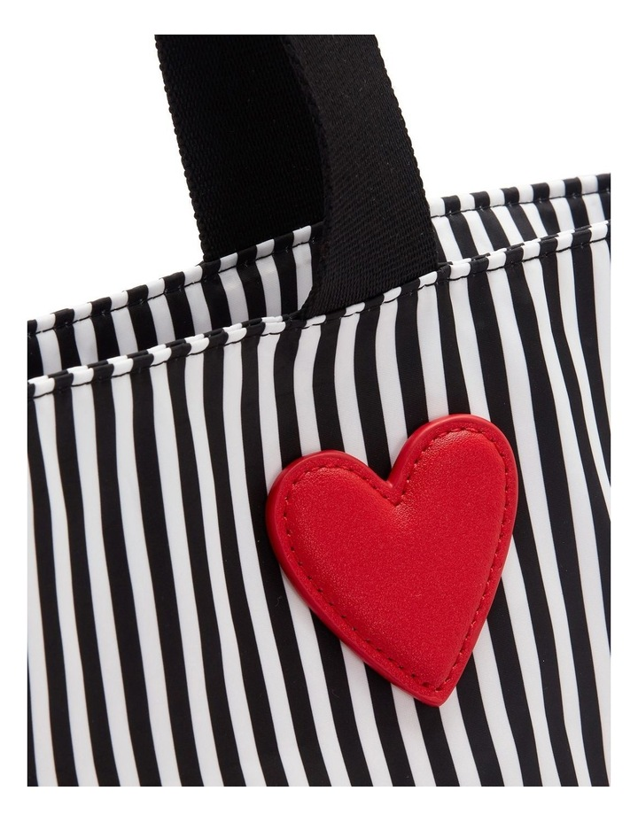 Black/Chalk/Red Heart & Stripes Bea Tote image 3