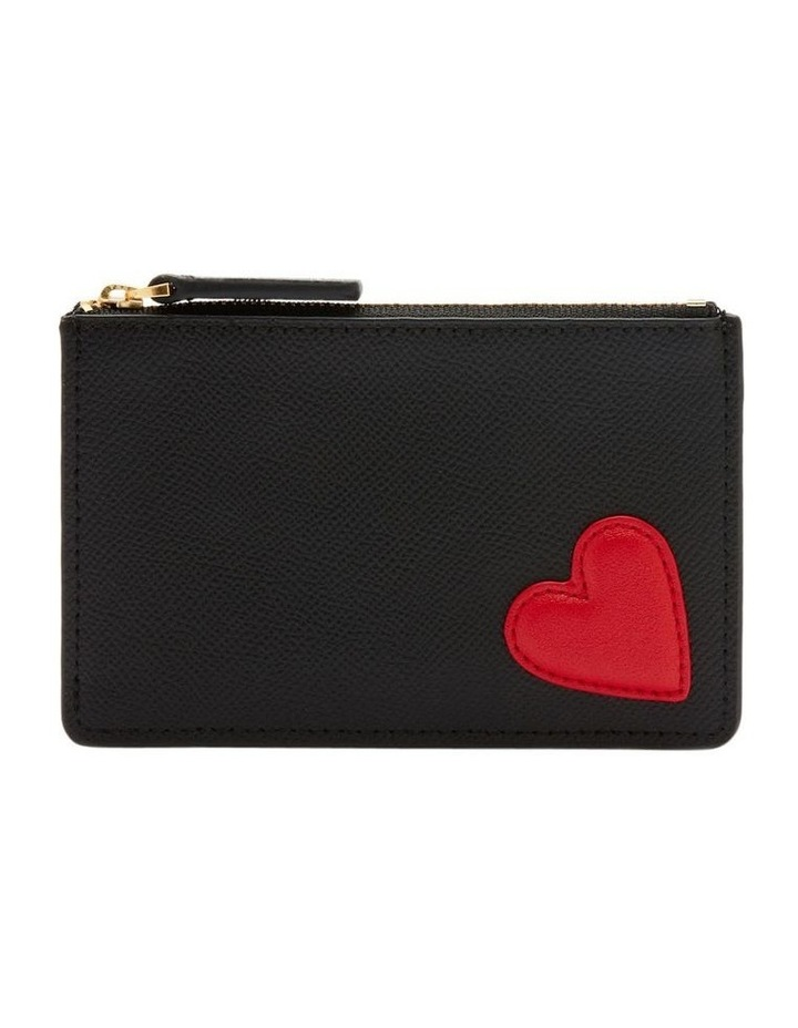 Black/Red Heart Lottie Pouch image 1