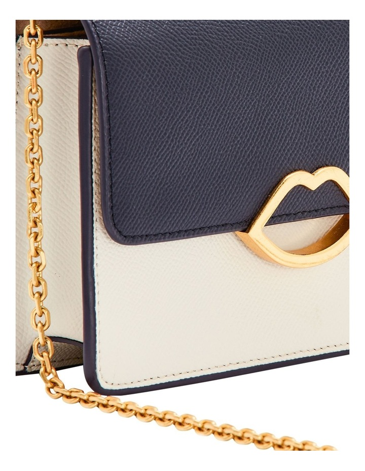 Navy/Oyster Cut Out Lip Polly image 4