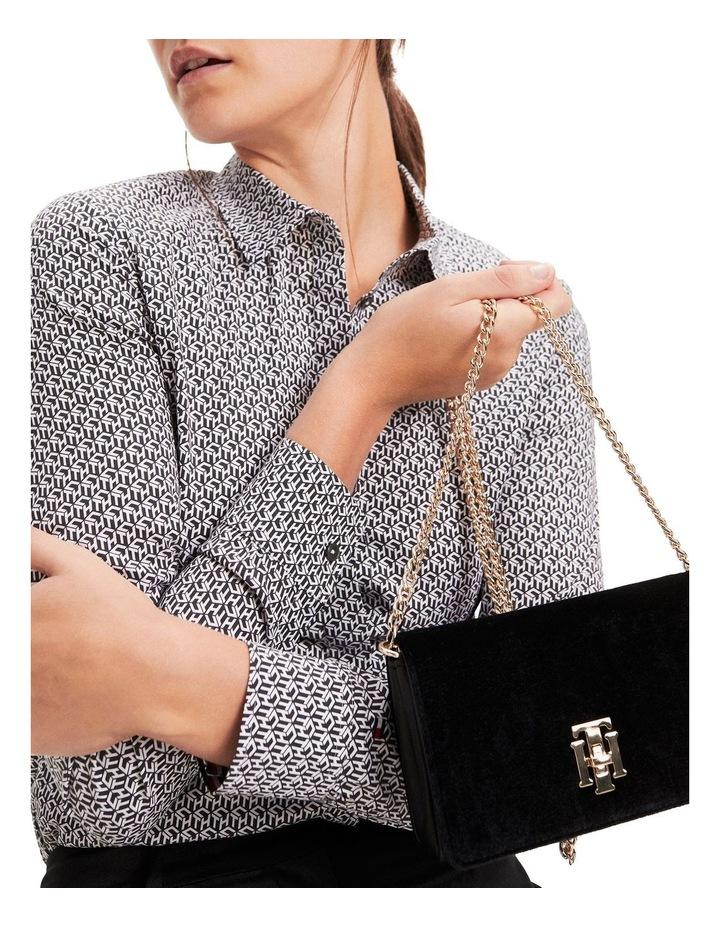 Lock Small Velvet Crossover Bag image 4