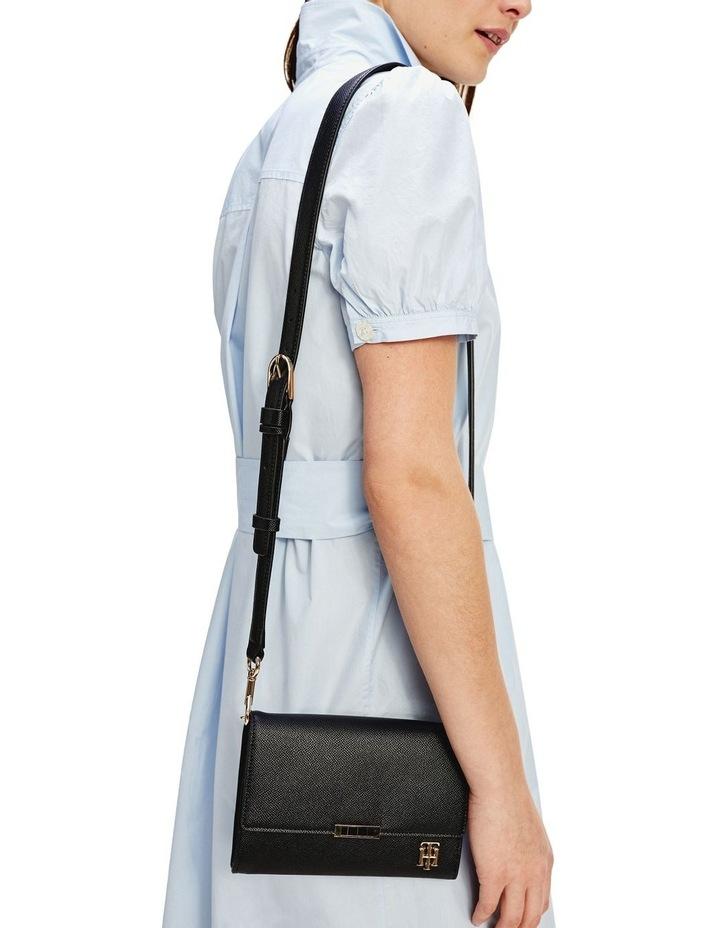 AW0AW08534BDS Saffiano Flap Over Crossbody Bag image 4