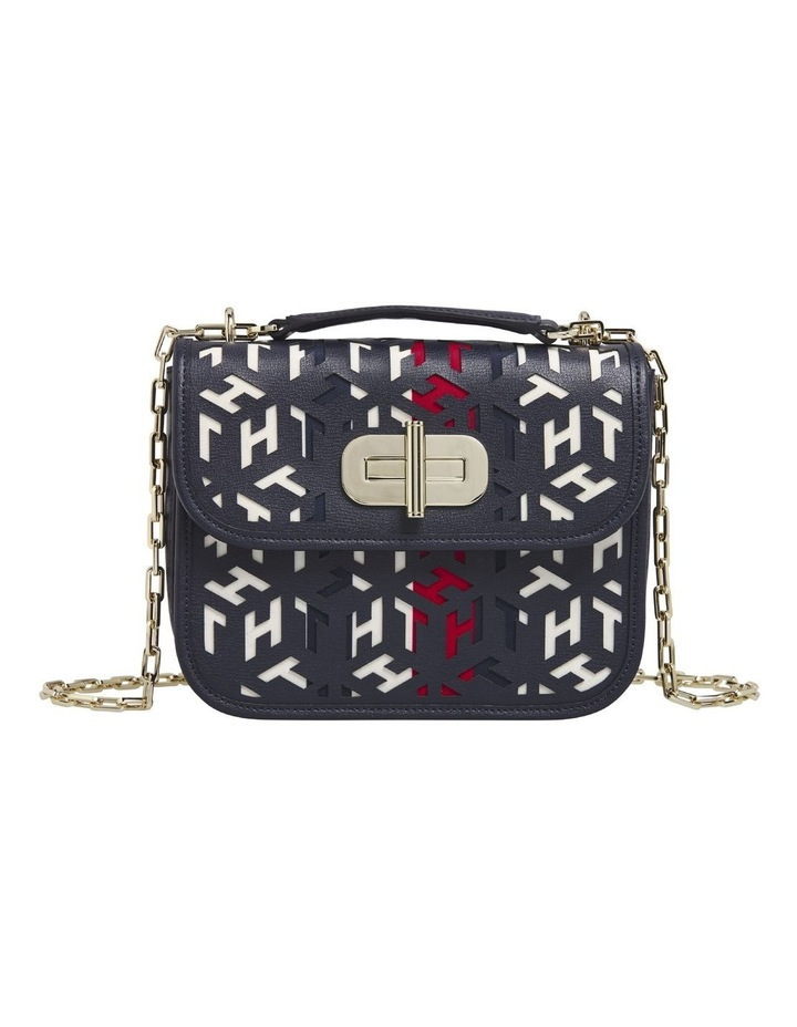 AW0AW08639_BDS TURNLOCK Flapover Crossbody Bag image 1