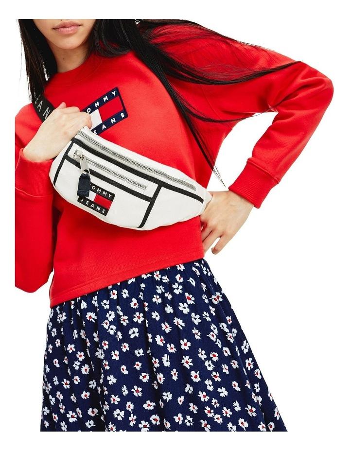 AW0AW08730_0K4 HERITAGE CANVAS Zip Top Belt Bag image 4