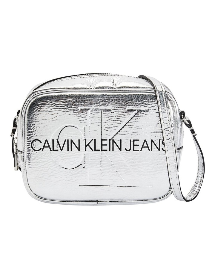 Sculpted Monogram Silver Crossbody Bag image 1