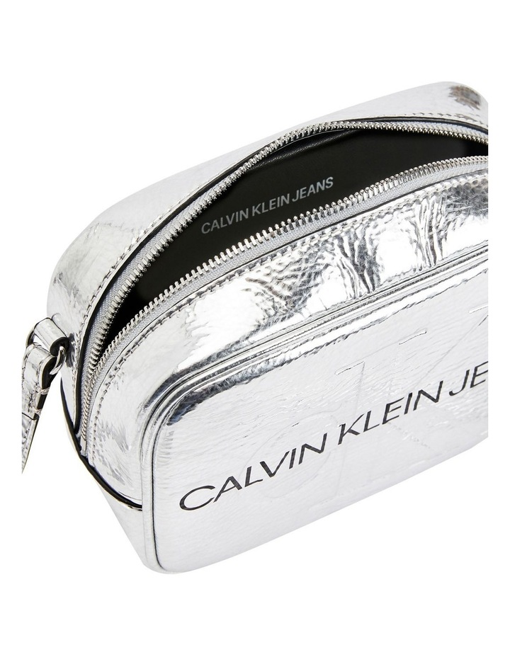 Sculpted Monogram Silver Crossbody Bag image 3