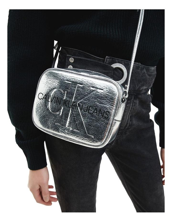 Sculpted Monogram Silver Crossbody Bag image 4