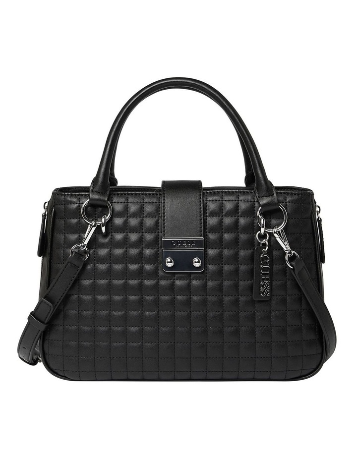 VY780806BLA Stassi Black Zip Top Satchel Bag image 1