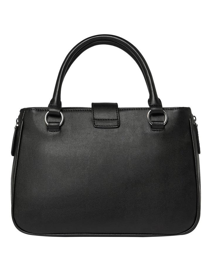 VY780806BLA Stassi Black Zip Top Satchel Bag image 2
