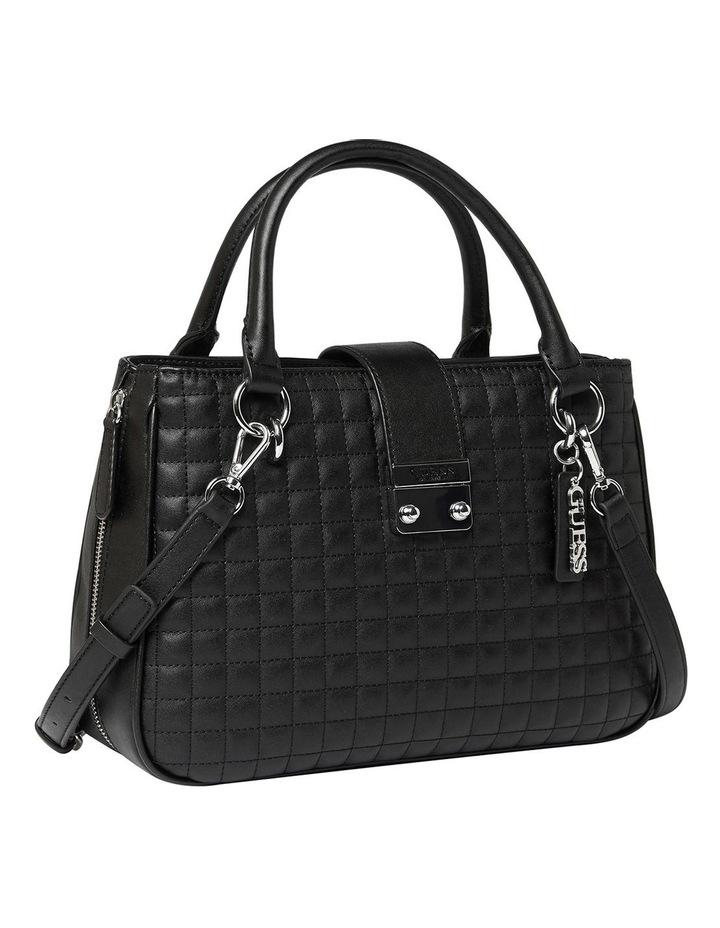 VY780806BLA Stassi Black Zip Top Satchel Bag image 3