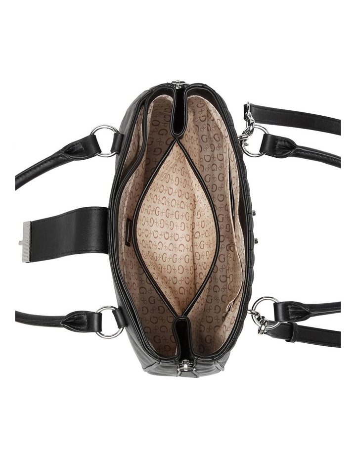 VY780806BLA Stassi Black Zip Top Satchel Bag image 4