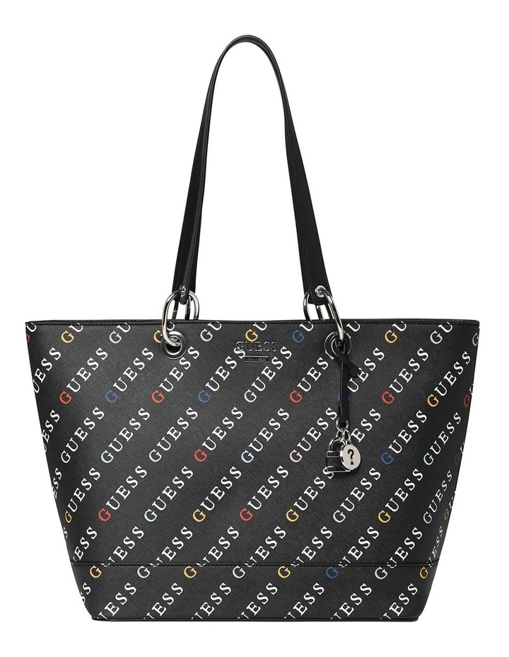 Silverman Black Logo Zip Top Tote Bag image 1