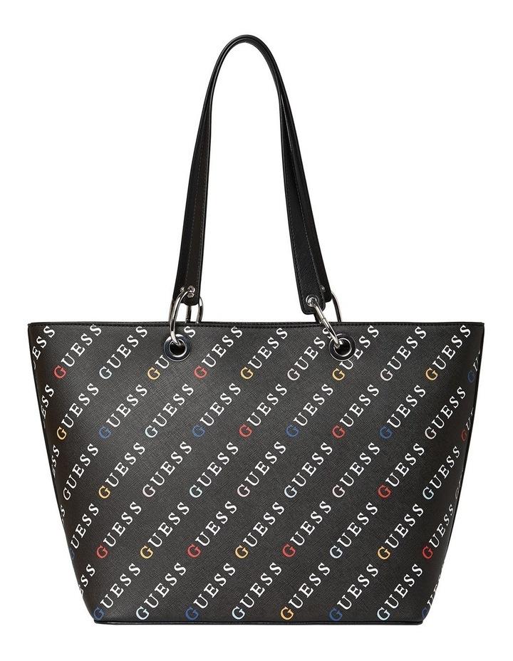 Silverman Black Logo Zip Top Tote Bag image 2