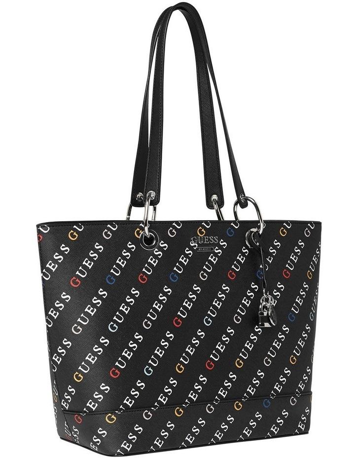 Silverman Black Logo Zip Top Tote Bag image 3