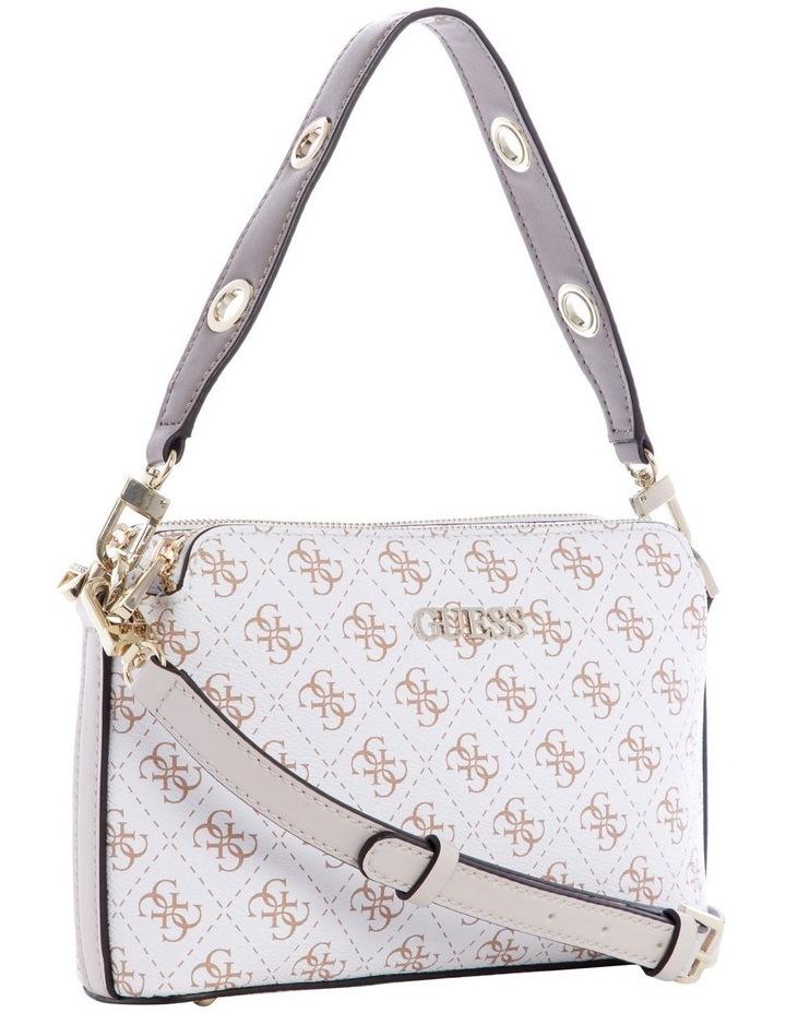 Washington White Multi Zip Top Crossbody Bag image 3
