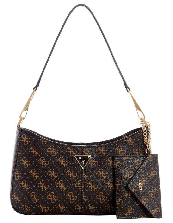 Layla Brown Zip Top Shoulder Bag image 1