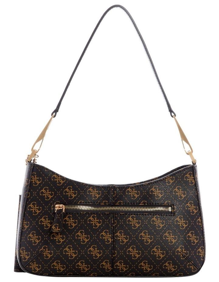 Layla Brown Zip Top Shoulder Bag image 2