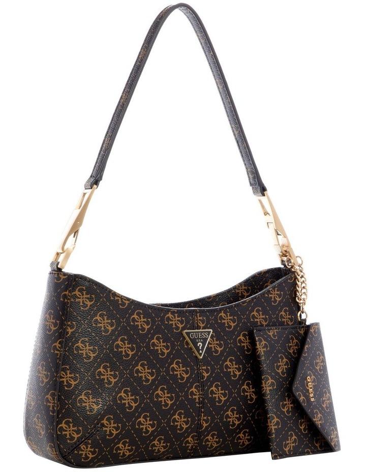 Layla Brown Zip Top Shoulder Bag image 4