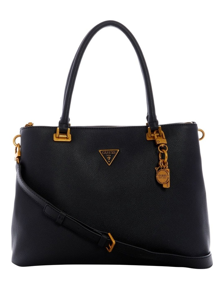 Destiny Black Zip Top Tote Bag image 1