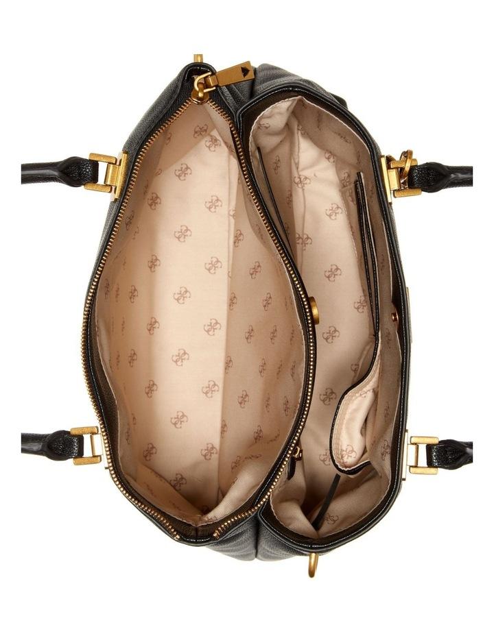 Destiny Black Zip Top Tote Bag image 3