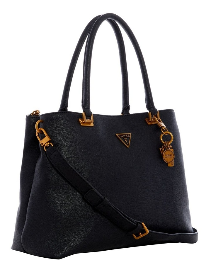 Destiny Black Zip Top Tote Bag image 4