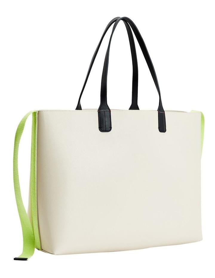Iconic Tommy Classic Beige/Lumen Flash Zip Top Tote Bag image 2