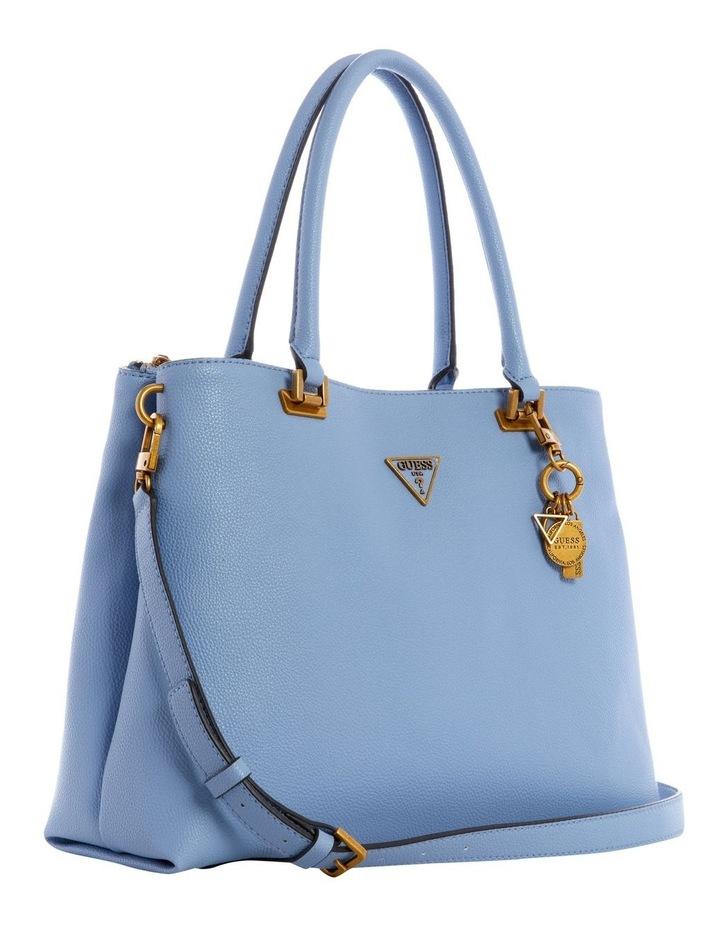VB787810BLU Destiny Blue Zip Top Tote Bag image 4