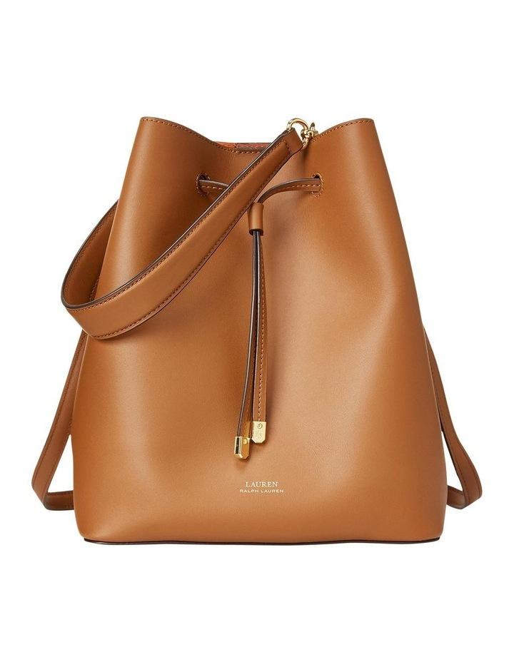 Debby Lauren Tan Monarch Orange Bucket Shoulder Bag image 1
