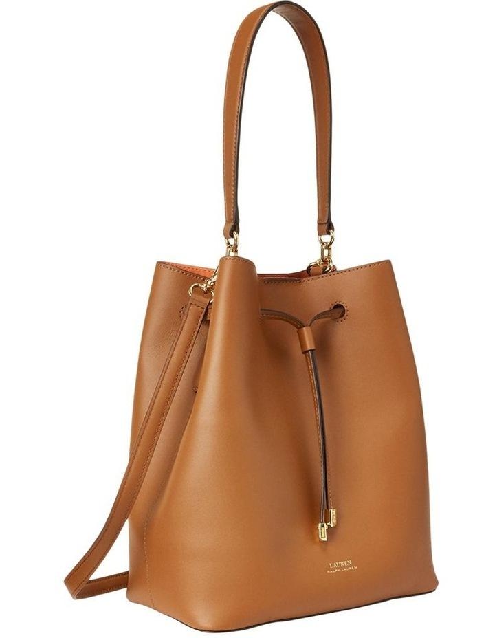 Debby Lauren Tan Monarch Orange Bucket Shoulder Bag image 2