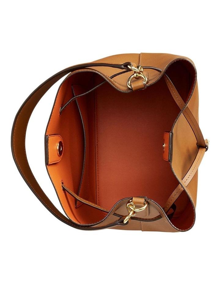 Debby Lauren Tan Monarch Orange Bucket Shoulder Bag image 3