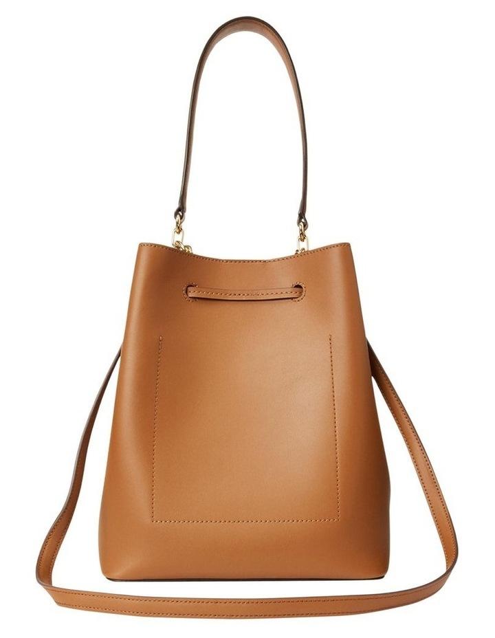 Debby Lauren Tan Monarch Orange Bucket Shoulder Bag image 4