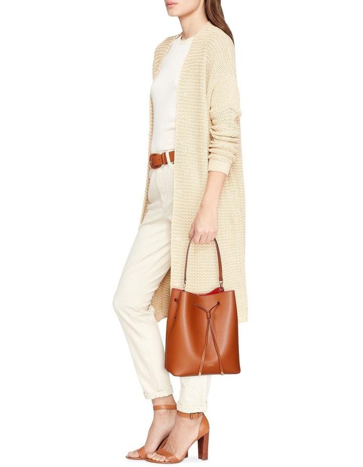 Debby Lauren Tan Monarch Orange Bucket Shoulder Bag image 6