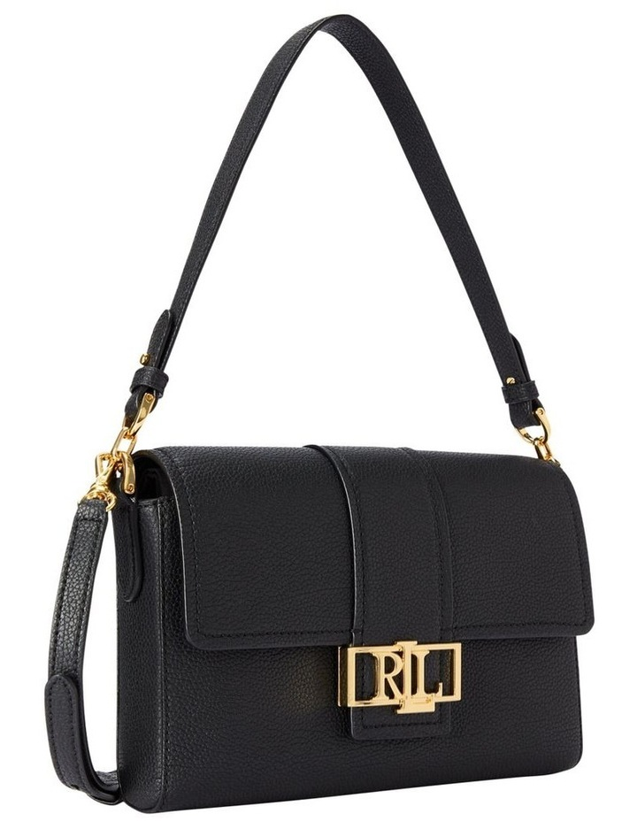 Spencer 25 Black Flap Over Shoulder Bag image 2