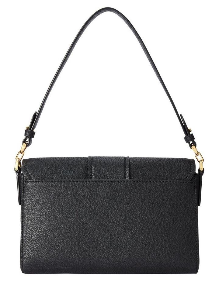 Spencer 25 Black Flap Over Shoulder Bag image 4